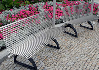 Tillmans Corner, AL Stainless Steel Benches